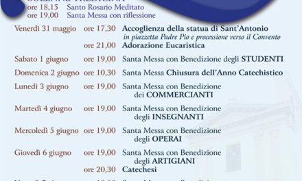 Tredicina e Festa in onore di Sant'Antonio di Padova